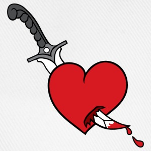 Heart and Knife - Baseballkappe