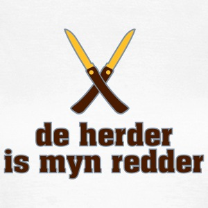 De herder is myn redder T-shirts - Vrouwen T-shirt