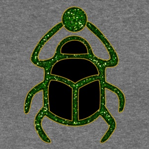 Scarab Amulet for Strength & Courage / Protection Amulet, green / Hoodies & Sweatshirts - Women's Boat Neck Long Sleeve Top