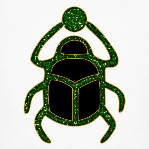 Scarab Amulet for Strength & Courage / Protection Amulet, green / T-shirts - Organic mænd