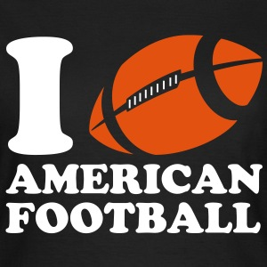I Love American Football T-skjorter - T-skjorte for kvinner