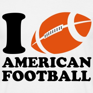 I Love American Football T-shirts - T-shirt herr