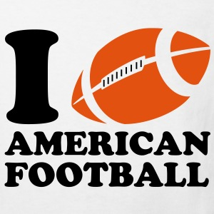 I Love American Football Kids' Shirts - Kids' Organic T-shirt