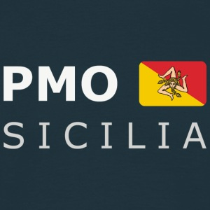 Classic T-Shirt PMO SICILIA white-lettered - Men's T-Shirt