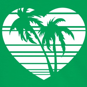 palm heart T-shirts - Herre kontrast-T-shirt