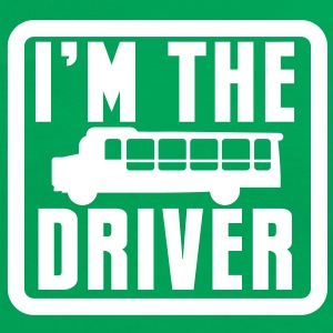 I'm the BUS DRIVER with a bus in a square T-Shirts - Women's Ringer T-Shirt