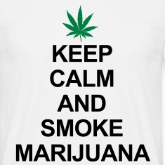 Keep Calm And Smoke Marijuana Camisetas
