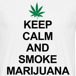 Keep Calm And Smoke Marijuana Camisetas - Camiseta hombre