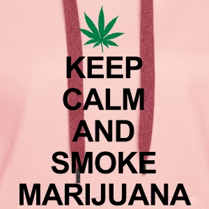 Keep Calm And Smoke Marijuana Bluzy - Bluza damska Premium z kapturem
