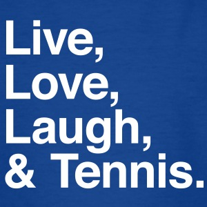 live love laugh and tennis T-shirts - Teenager-T-shirt