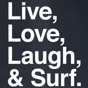 live love laugh and surf Kasketter & Huer - Flexfit baseballcap