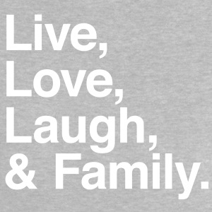 live love laugh and family T-shirts - Baby T-shirt