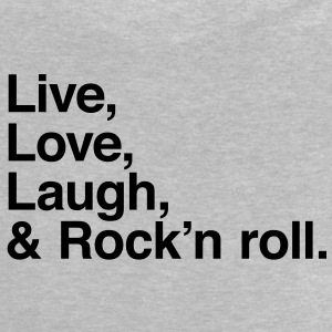 live love laugh and rock and roll Skjorter - Baby-T-skjorte