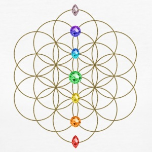 Flower of life, chakras, Sacred Geometry, Yoga, Meditation, T-shirts, Hoodies - Women's Organic T-shirt