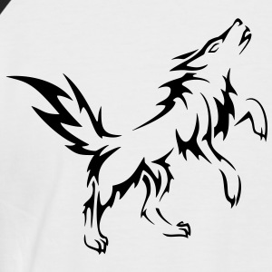 chien tribal - T-shirt baseball manches courtes Homme