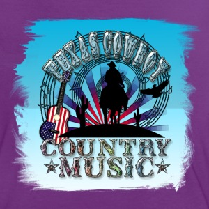 texas cowboy country music T-Shirts - Women's Ringer T-Shirt
