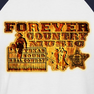 forever country music texas sound real cowboy T-Shirts - Men's Baseball T-Shirt