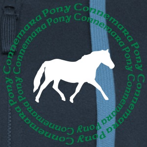 Connemara Pony -this design lets you change the colours Sweaters - Vrouwenjack met capuchon Premium