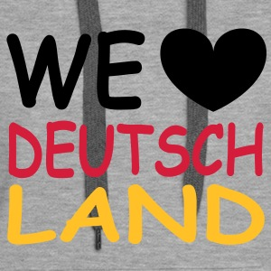 WE ♥ Deutschland - Schwarz Rot Gold Sweat-shirts - Sweat-shirt à capuche Premium pour femmes