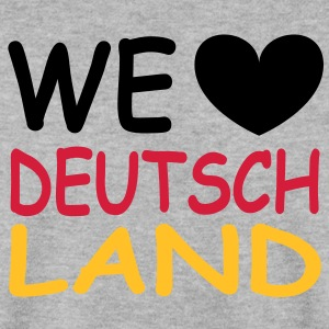 WE ♥ Deutschland - Schwarz Rot Gold Hoodies & Sweatshirts - Men's Sweatshirt