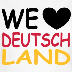 WE love Deutschland - Schwarz Rot Gold T-shirts - Vrouwen T-shirt