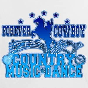 forever cowboy country music & dance T-Shirts - Women's Ringer T-Shirt
