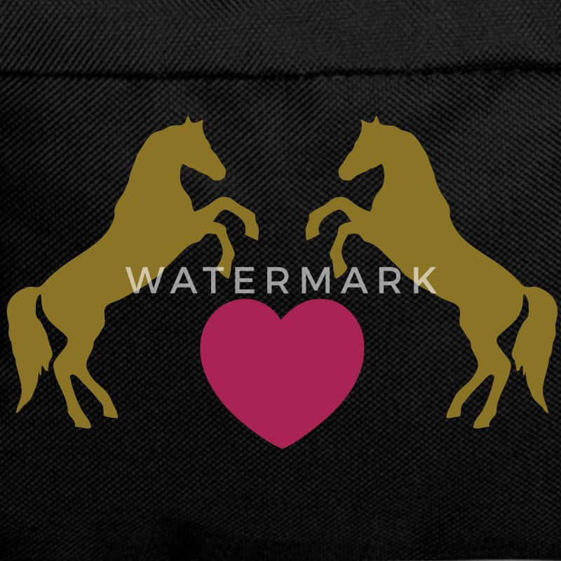 Two wild horses with heart - this design lets you change all colours Torby - Plecak