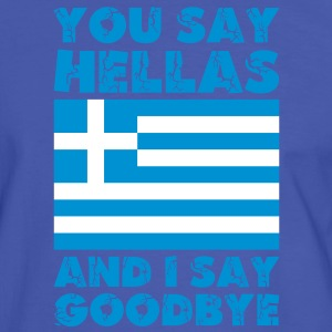 Hellas Goodbye T-Shirts - Männer Kontrast-T-Shirt