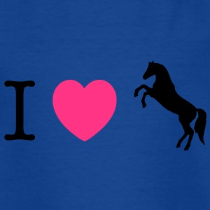 I love Ponies wild horse - this design lets you change all colours T-shirts - Teenager-T-shirt