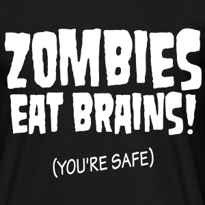 Safe from zombies - Men's T-Shirt