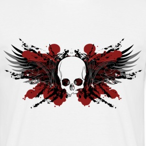 Crâne sans Pilons de poulet  le crâne baguettes de tambour Totenkopf Skull Drumsticks Schlagzeug  Sticks Rock Metal Biker Drum Sticks Schlagzeuger rot tshirt t-shirt shirt  le rock le métal de motards pilons chemise t-shirt le batteur t-shirt - T-shirt Homme