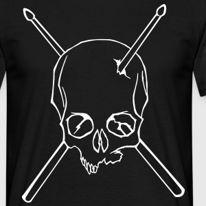 Skull drumsticks - Men's T-Shirt
