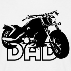 Biker DAD Black Motorcycle T-Shirt BW