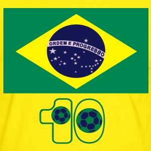 brazil_flag_background Tee shirts - T-shirt contraste Homme