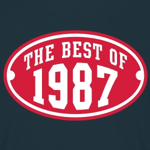 THE BEST OF 1987 2C Birthday Anniversaire Geburtstag T-Shirt - Camiseta hombre
