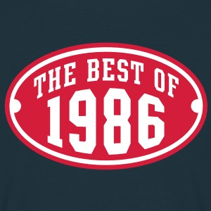 THE BEST OF 1986 2C Birthday Anniversaire Geburtstag T-Shirt - Maglietta da uomo