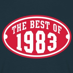 THE BEST OF 1983 2C Birthday Anniversaire Geburtstag T-Shirt