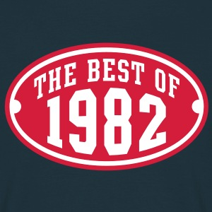 THE BEST OF 1982 2C Birthday Anniversaire Geburtstag T-Shirt - Koszulka męska