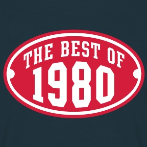 THE BEST OF 1980 2C Birthday Anniversaire Geburtstag T-Shirt - Maglietta da uomo