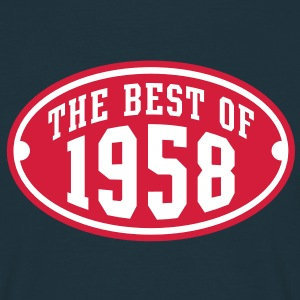 THE BEST OF 1958 2C Birthday Anniversaire Geburtstag T-Shirt - Mannen T-shirt