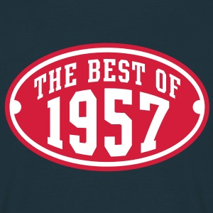 THE BEST OF 1957 2C Birthday Anniversaire Geburtstag T-Shirt - T-shirt herr