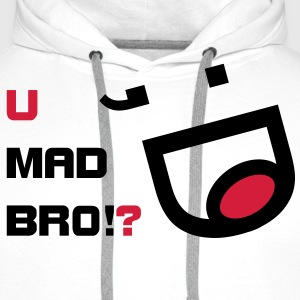 you mad bro?  Sweat-shirts - Sweat-shirt à capuche Premium pour hommes