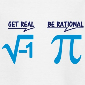 get real - be rational (2c) Kids' Shirts - Teenage T-shirt