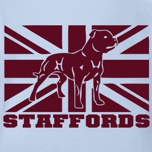 staffords flag3 Baby T-Shirts - Baby Bio-Kurzarm-Body
