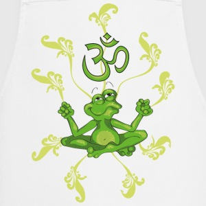 The frog sings the OM at his Yoga-Lesson Fartuchy - Fartuch kuchenny
