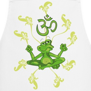 The frog sings the OM at his Yoga-Lesson  Aprons - Cooking Apron