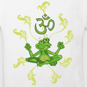 The frog sings the OM at his Yoga-Lesson Kids' Shirts - Kids' Organic T-shirt