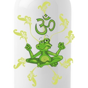 The frog sings the OM at his Yoga-Lesson Butelki i kubki - Bidon