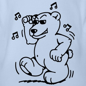 Fat little dancing bear Baby Shirts  - Organic Short-sleeved Baby Bodysuit