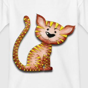 Purrnickerty the cat - Sitting - Kids' T-Shirt